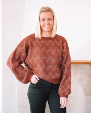 HIGH HOPES RUST & GOLD SWEATER