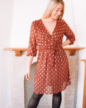 TRUE LOVE RUST & GOLD DRESS